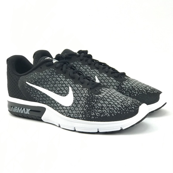 Nike Mens Air Max Sequent 2 Black Running Shoes 1ca2e9d37